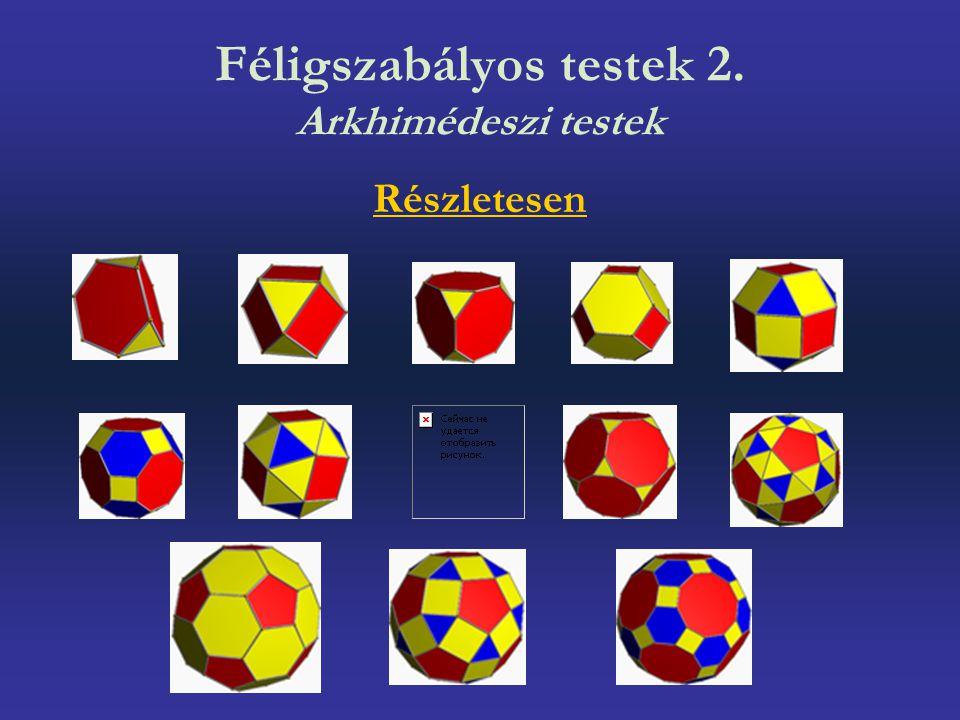 Féligszabályos testek 2. Arkhimédeszi testek Részletesen