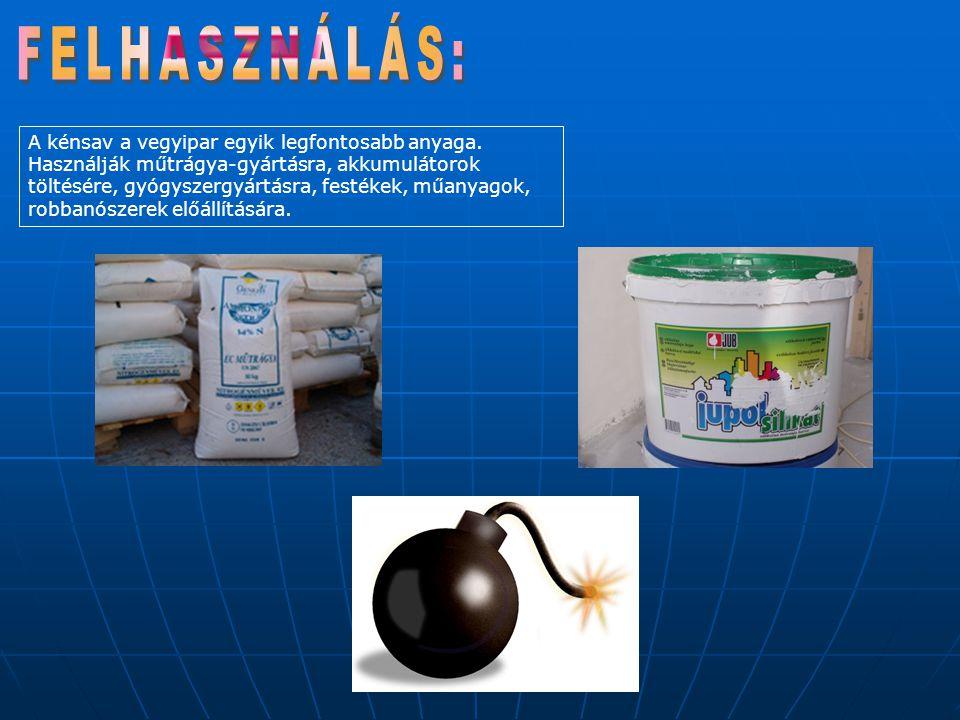 * A kénsav a rezet híg állapotban nem oldja, de a tömény kénsav feloldja, mégpedig úgy, hogy előtte oxiddá alakítja: Cu + H2SO4 ® CuO + H2O + SO2 A kén-dioxid elszáll, a réz-oxid a többi kénsavban feloldódik, réz-szulfáttá alakul: CuO + H2SO4 ® CuSO4 + H2O ** A tömény kénsav a vasat is oxidálja, de ezt az oxidréteget már nem képes feloldani, így a tömény kénsav nem oldja a vasat.