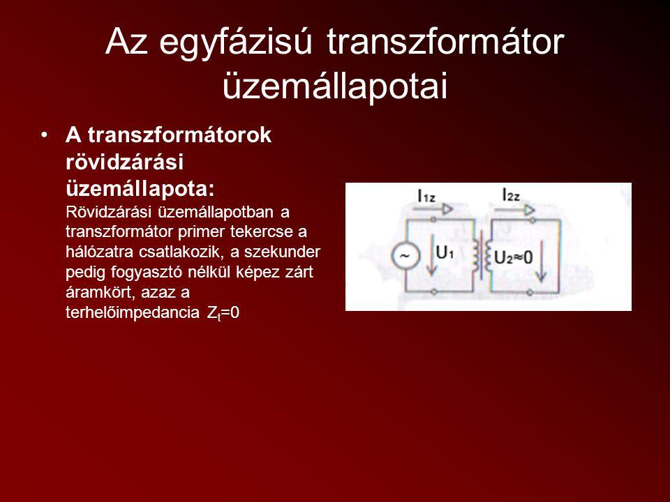 Háromfázisú transzformátorok A háromfázisú transzformátor szerkezete Háromoszlopos, kétablakos vasmag.