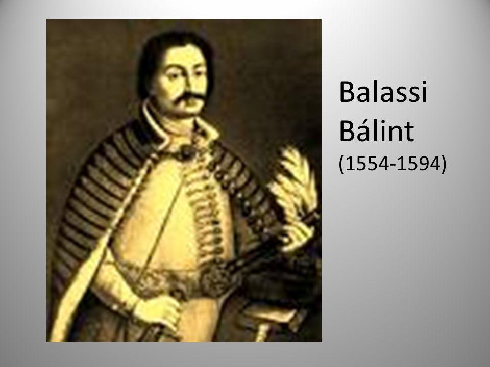 Balassi Bálint (1554-1594)
