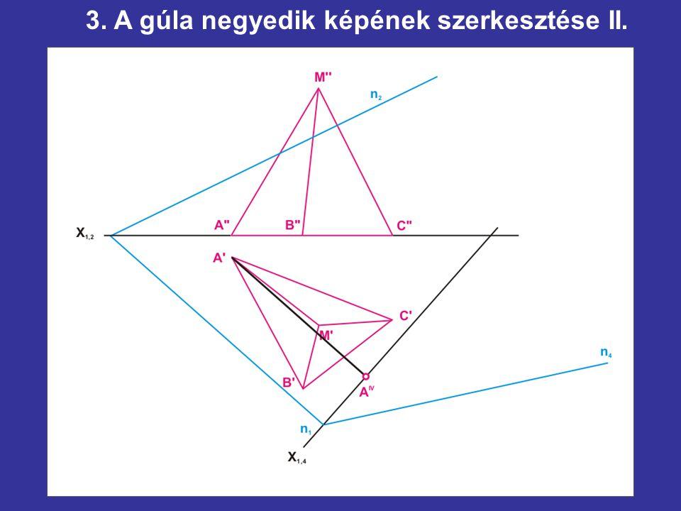 3. A gúla negyedik képének szerkesztése II.