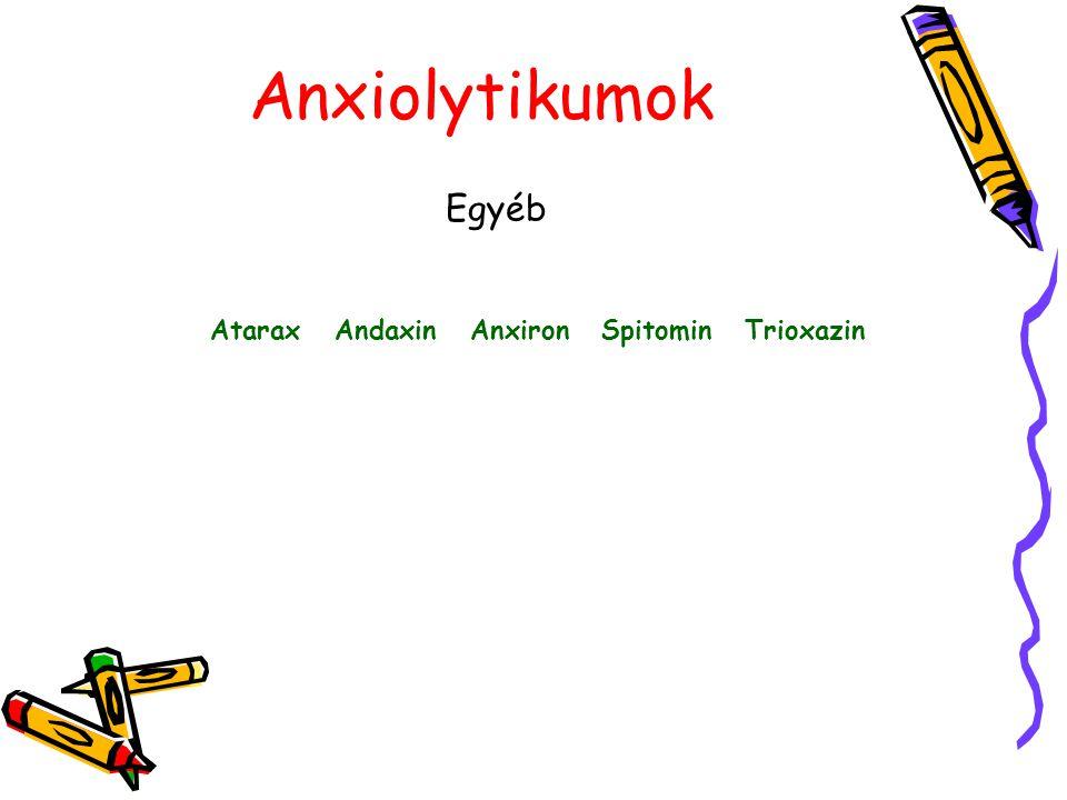 Anxiolytikumok Egyéb Atarax Andaxin Anxiron Spitomin Trioxazin