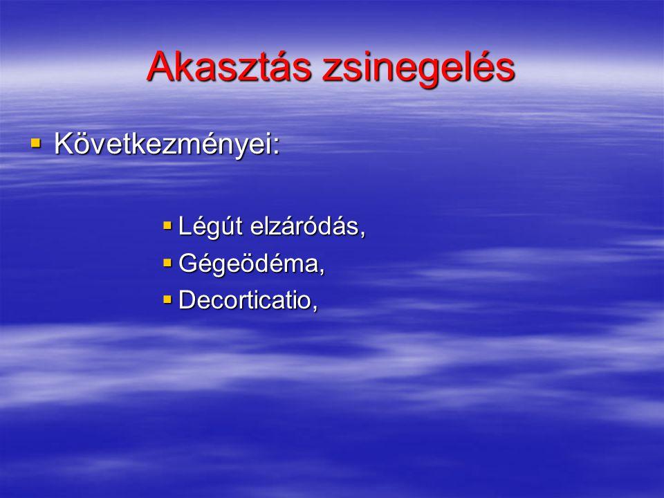  Következményei:  Légút elzáródás,  Gégeödéma,  Decorticatio,
