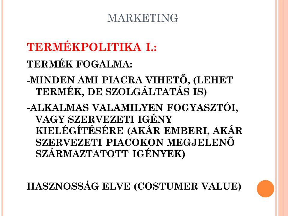 MARKETING MARKETINGSTRATÉGIÁK VIII.: -POZICIONÁLÁS (POSITIONING) MÁRKAPOZICIONÁLÁSI STRATÉGIÁK: -ÜRES HELYEK ELFOGLALÁSA -AZONOS POZÍCIÓ ELFOGLALÁSA A
