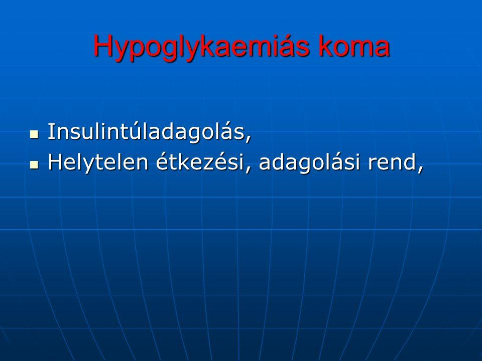 Laktátacidosis Szöveti hypoxia Szöveti hypoxia Anaerob folyamatok Anaerob folyamatok Piroszőlősav, Tejsav, Metabolikus acidosis Metabolikus acidosis