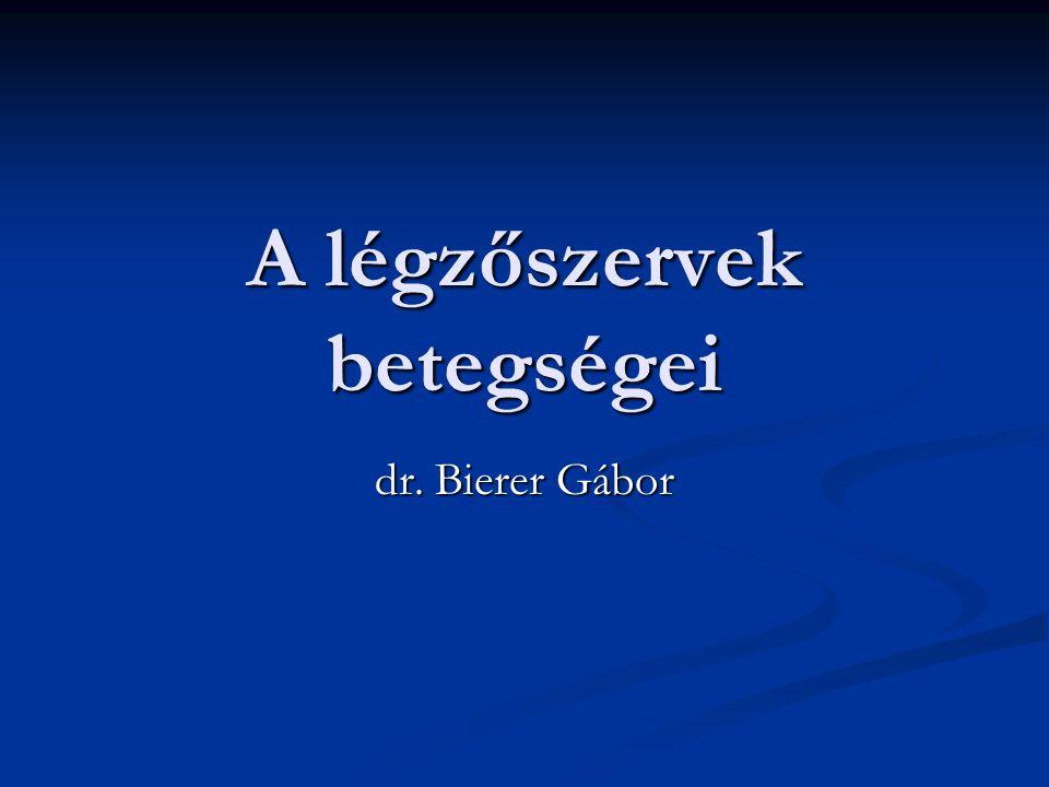A légzőszervek betegségei dr. Bierer Gábor