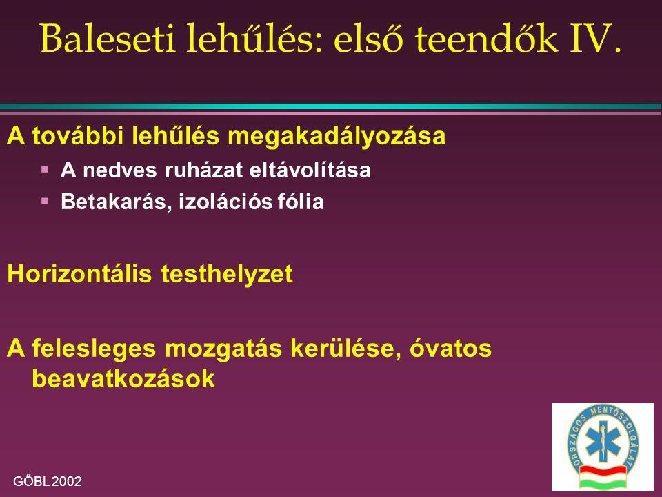GŐBL 2002 Baleseti lehűlés: első teendők IV.