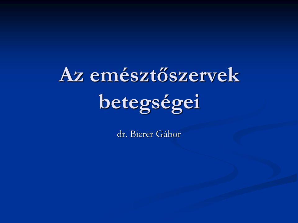 Az emésztőszervek betegségei dr. Bierer Gábor