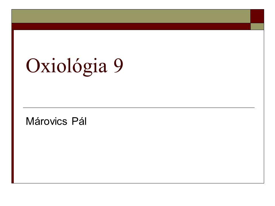 Oxiológia 9 Márovics Pál