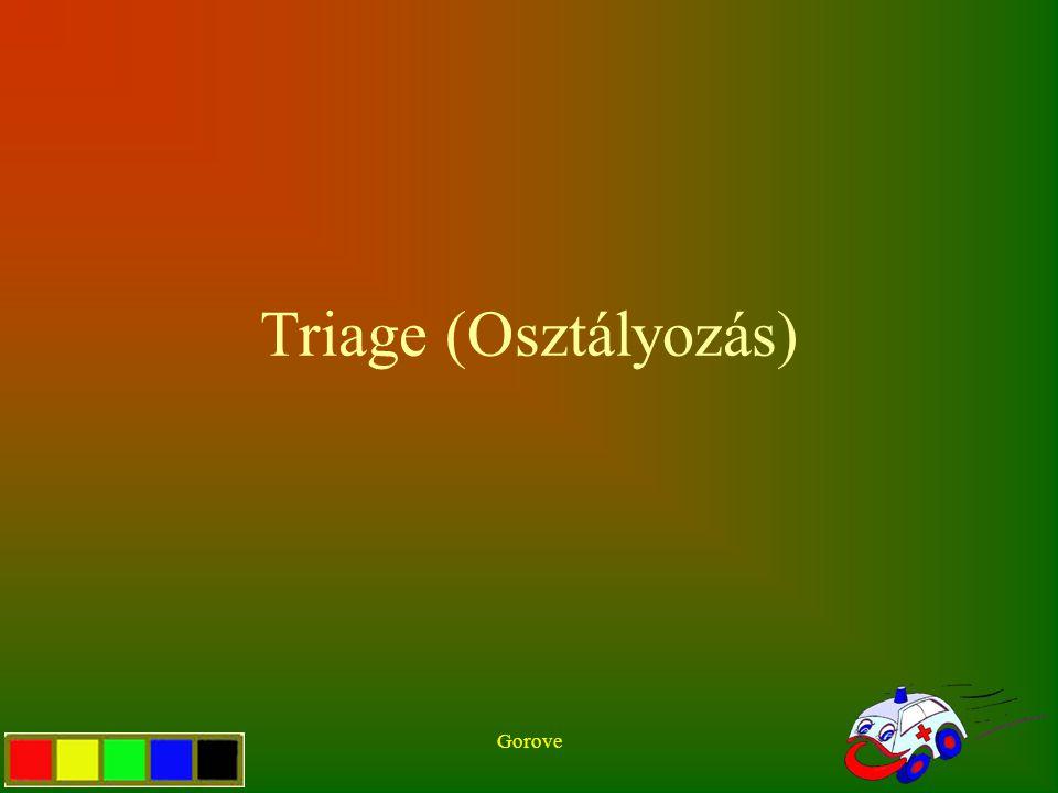 Gorove Triage (Osztályozás)