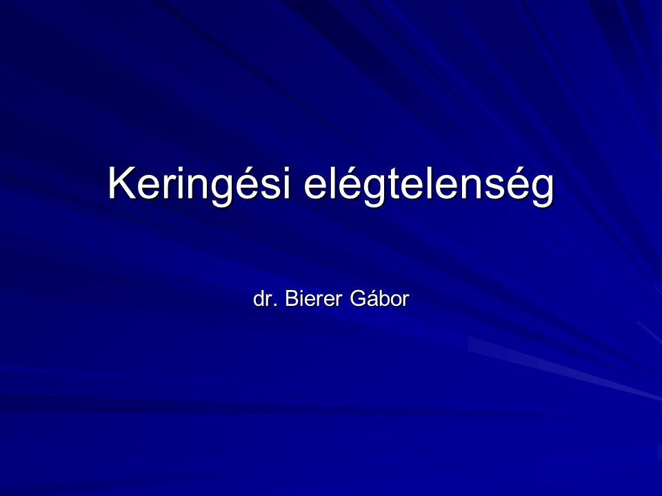 Keringési elégtelenség dr. Bierer Gábor