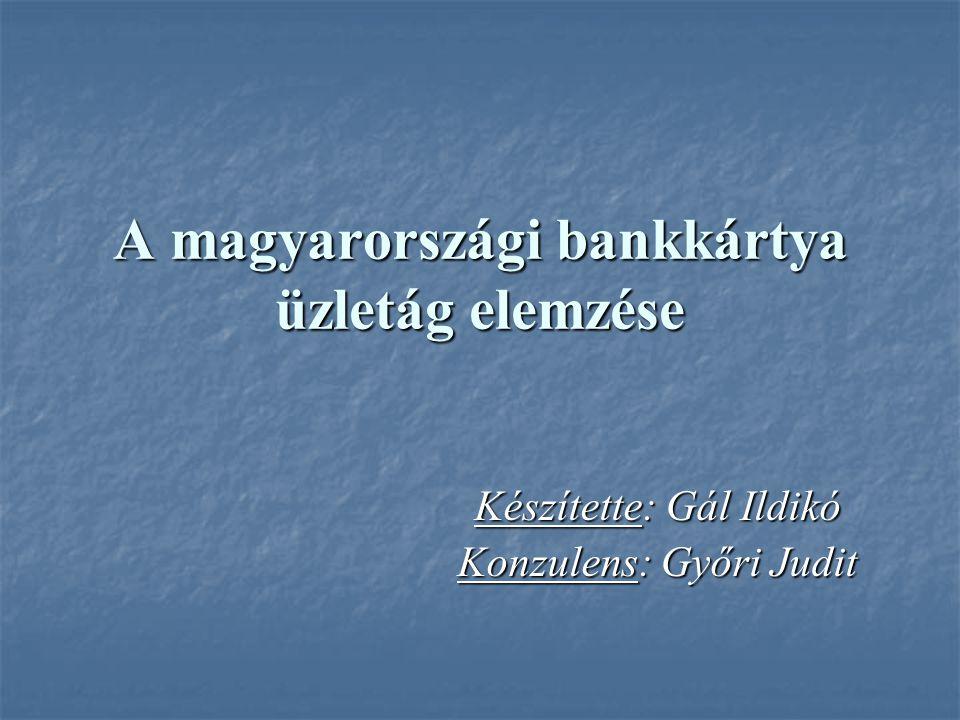 A magyarországi bankkártya üzletág elemzése Készítette: Gál Ildikó Konzulens: Győri Judit