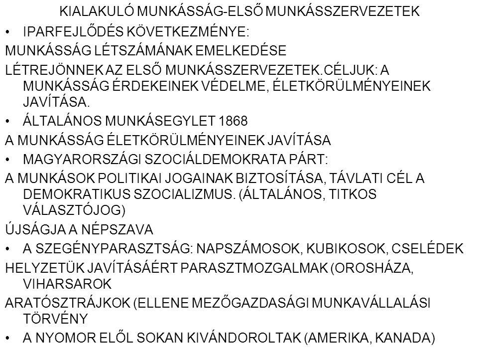 A NEMZETISÉGI POLITIKA HORVÁT-MAGYAR KIEGYEZÉS LÉTREJÖTTE (1868) NEMZETISÉGI TÖRVÉNY ELFOGADÁSA TARTALMA: ANYANYELVHASZNÁLAT AZ OKTATÁSBAN KÖZIGAZGATÁSBAN, IGAZSÁGSZOLGÁLTATÁSBAN ÖNÁLLÓ NEMZETKÉNT NEM ISMERI EL A NEMZETISÉGEKET.