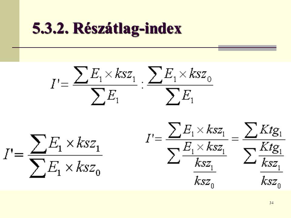 34 5.3.2. Részátlag-index