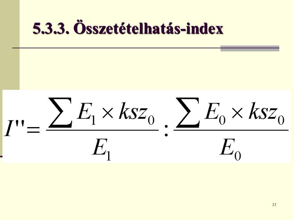 35 5.3.3. Összetételhatás-index