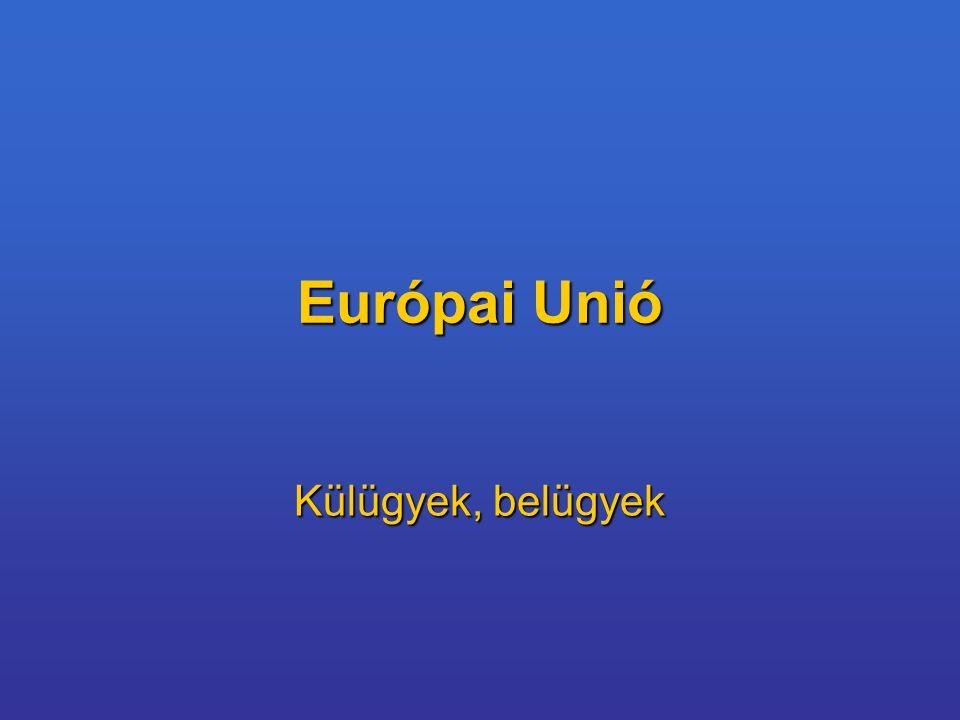 Témavázlat 1.Közös Kül- és Biztonságpolitika 2.Büntetőügyekben folytatott Rendőri és Igazságügyi Együttműködés 3.Az EK/EU külkapcsolatai 4.Az Unió keleti bővítése