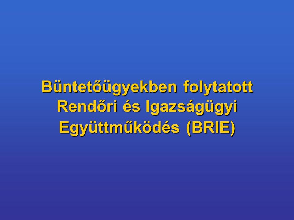 Büntetőügyekben folytatott Rendőri és Igazságügyi Együttműködés (BRIE)