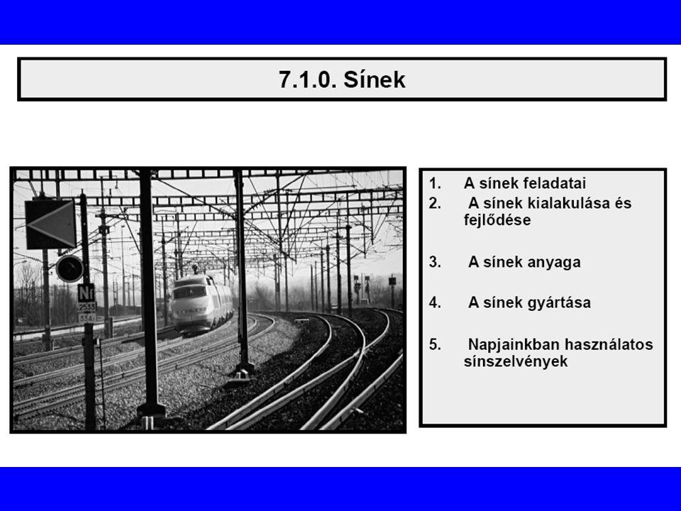 A sínek rendeltetése, feladatai