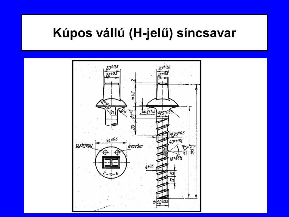 Kúpos vállú (H-jelű) síncsavar