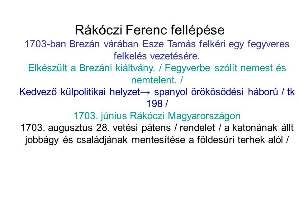 Rákóczi Ferenc fellépése 1703-ban Brezán várában Esze Tamás felkéri egy fegyveres felkelés vezetésére. Elkészült a Brezáni kiáltvány. / Fegyverbe szól