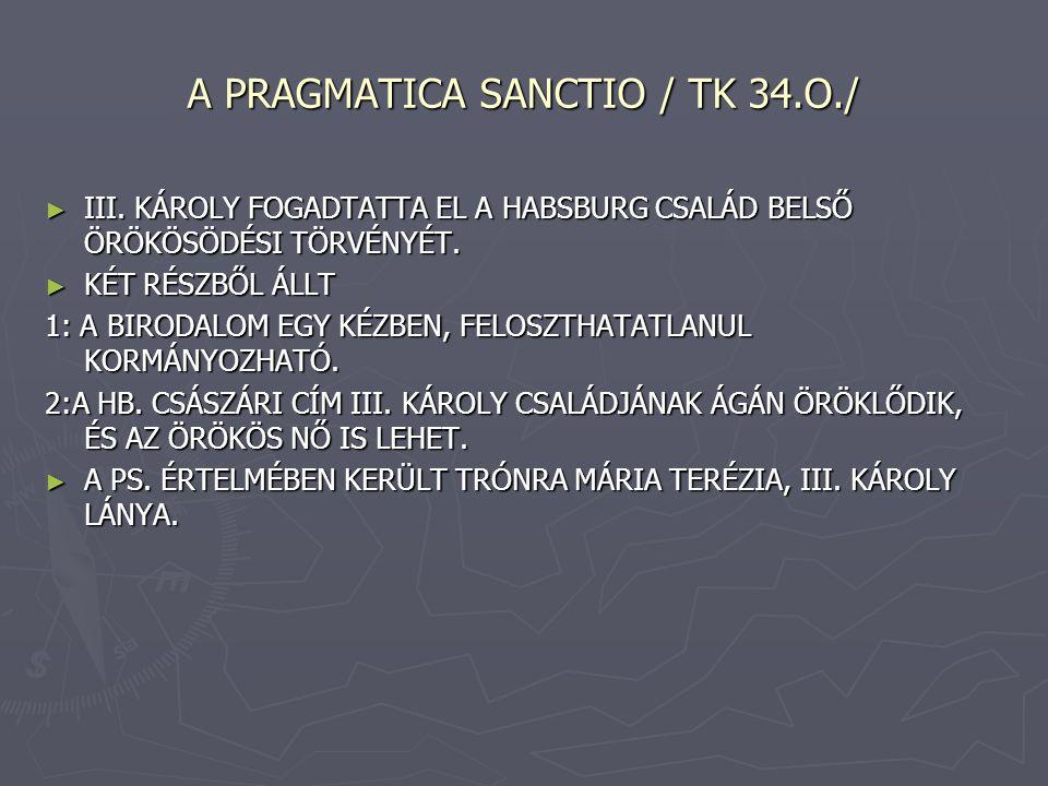 A PRAGMATICA SANCTIO / TK 34.O./ ► III.