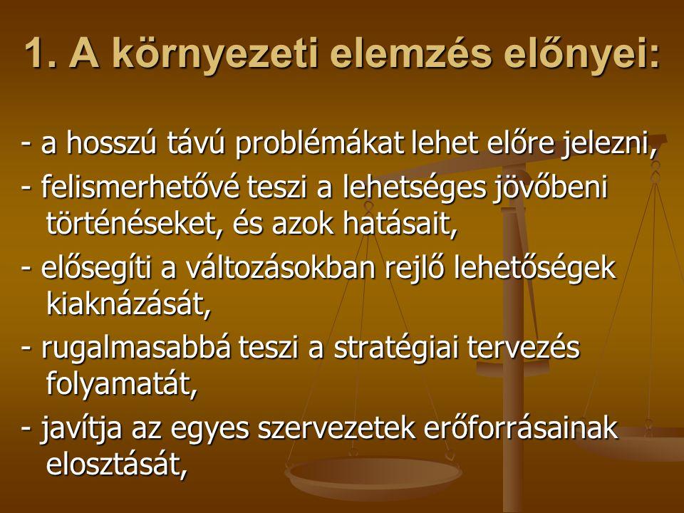 3.5.4.Tágabb környezeti információk: - általános feltételrendszer, - kormányzati akciók és tervek.