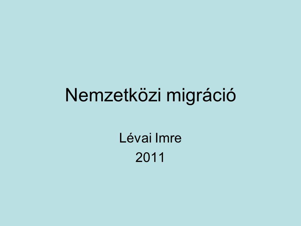 Nemzetközi migráció Lévai Imre 2011