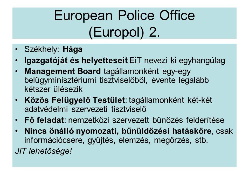 European Police Office (Europol) 2.