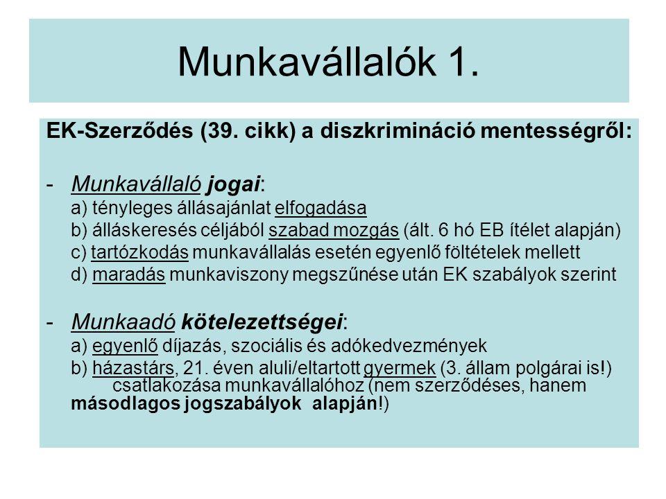 Munkavállalók 1.EK-Szerződés (39.