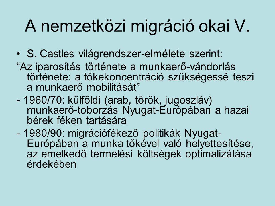 A nemzetközi migráció okai V.S.