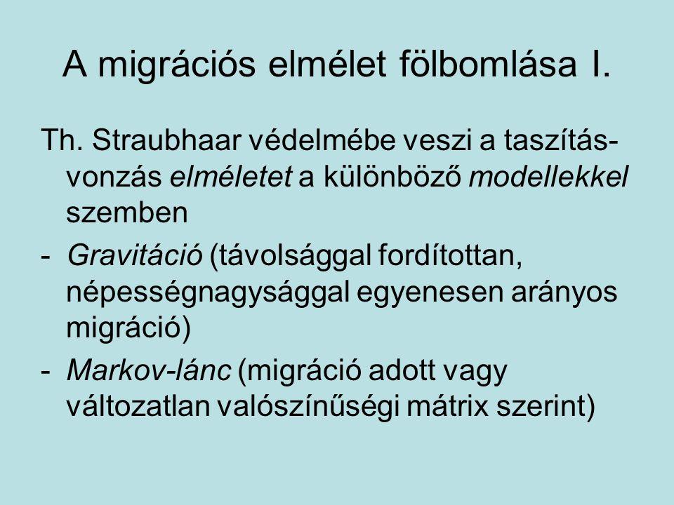 A migrációs elmélet fölbomlása I.Th.