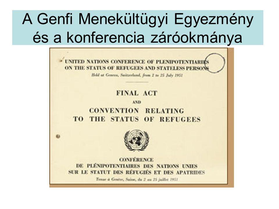 A Genfi Menekültügyi Egyezmény és a konferencia záróokmánya