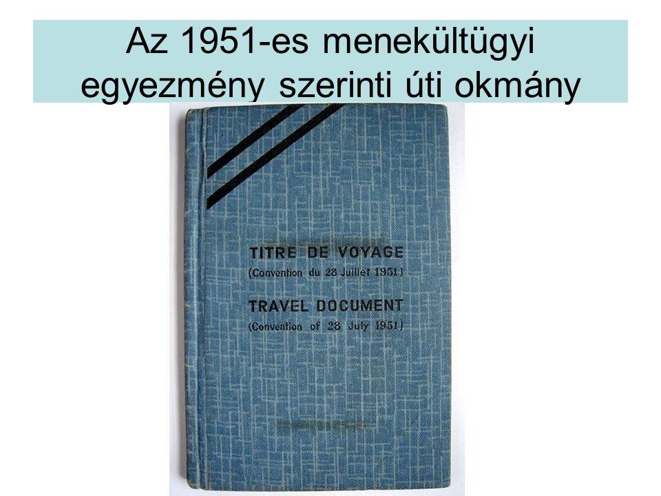 Az 1951-es menekültügyi egyezmény szerinti úti okmány