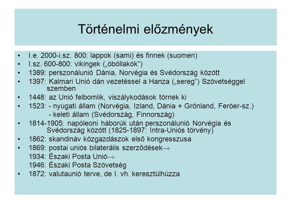 Történelmi előzmények I.e.2000-i.sz. 800: lappok (sami) és finnek (suomen) I.sz.