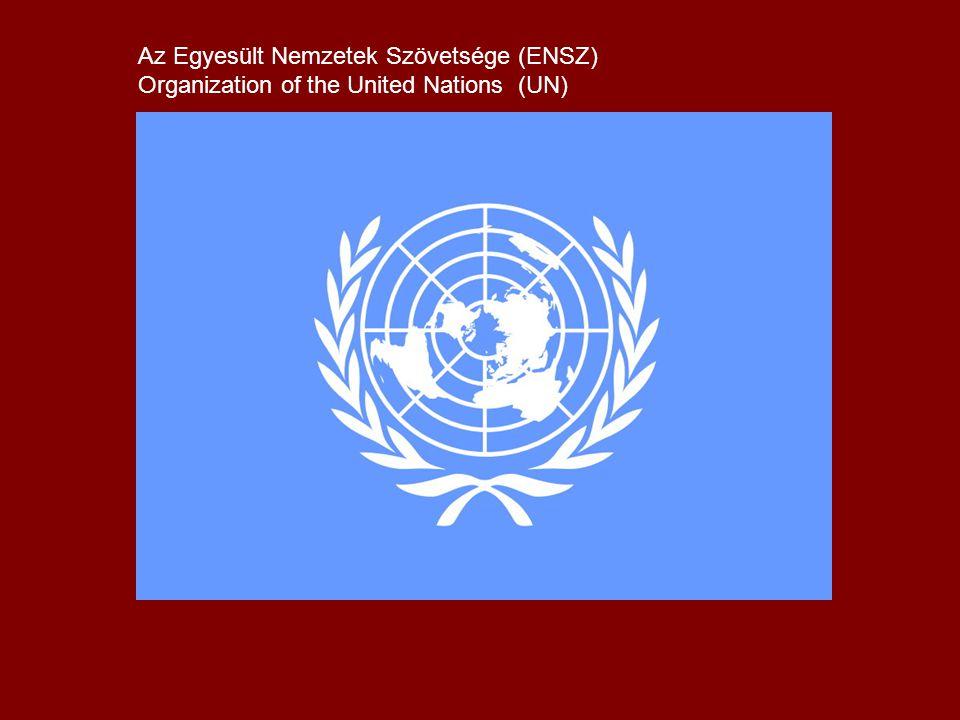 Az Egyesült Nemzetek Szövetsége (ENSZ) Organization of the United Nations (UN)