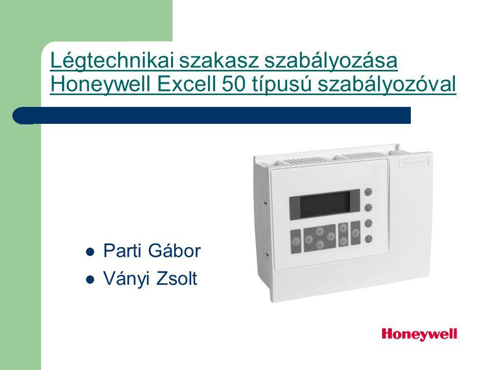 Légtechnikai szakasz szabályozása Honeywell Excell 50 típusú szabályozóval Parti Gábor Ványi Zsolt
