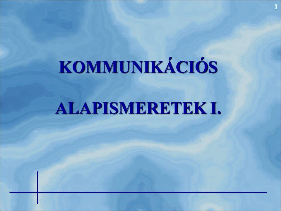 1KOMMUNIKÁCIÓS ALAPISMERETEK I.