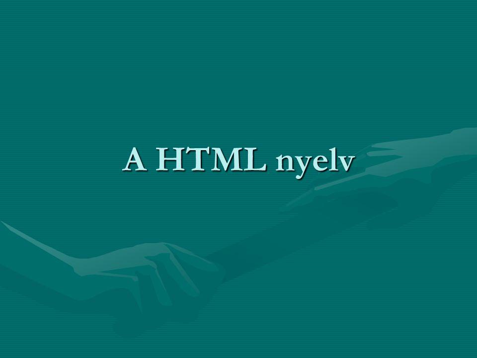 A HTML nyelv