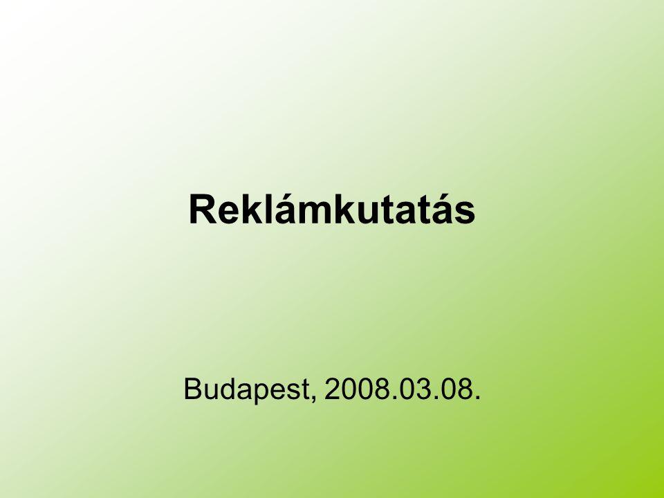 Reklámkutatás Budapest, 2008.03.08.