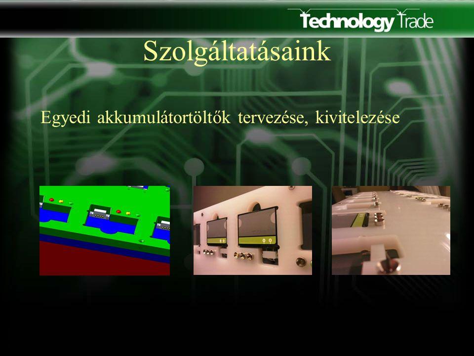 Szolgáltatásaink Egyedi akkumulátortöltők tervezése, kivitelezése