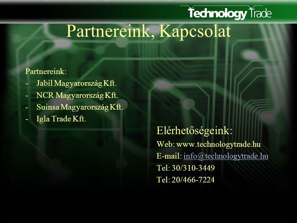 Partnereink, Kapcsolat Partnereink: -Jabil Magyarország Kft.