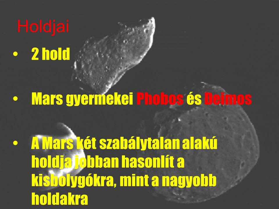 PHOBOS Nagyobb, belső Phobos = félelem -> fóbia közelebb kering anyabolygójának felszínéhez, mint bármely más hold a Naprendszerben.