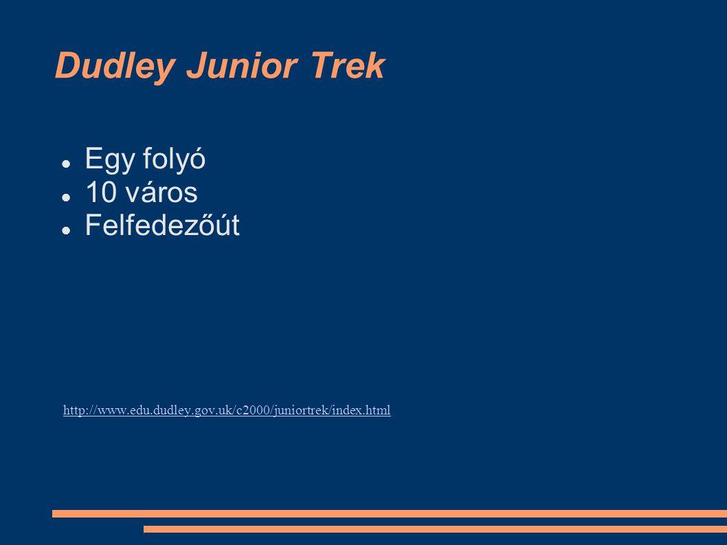 Dudley Junior Trek Egy folyó 10 város Felfedezőút http://www.edu.dudley.gov.uk/c2000/juniortrek/index.html