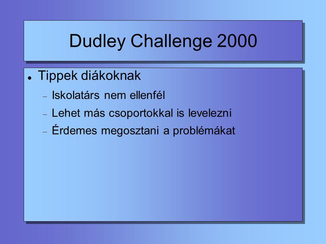 Dudley Challenge 2000 2001.júl.