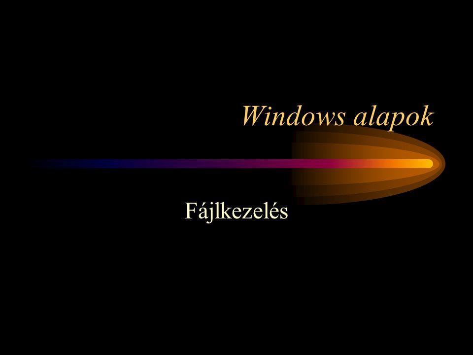 Windows alapok Fájlkezelés