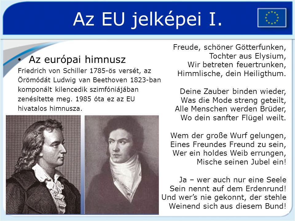 Az EU jelképei II.