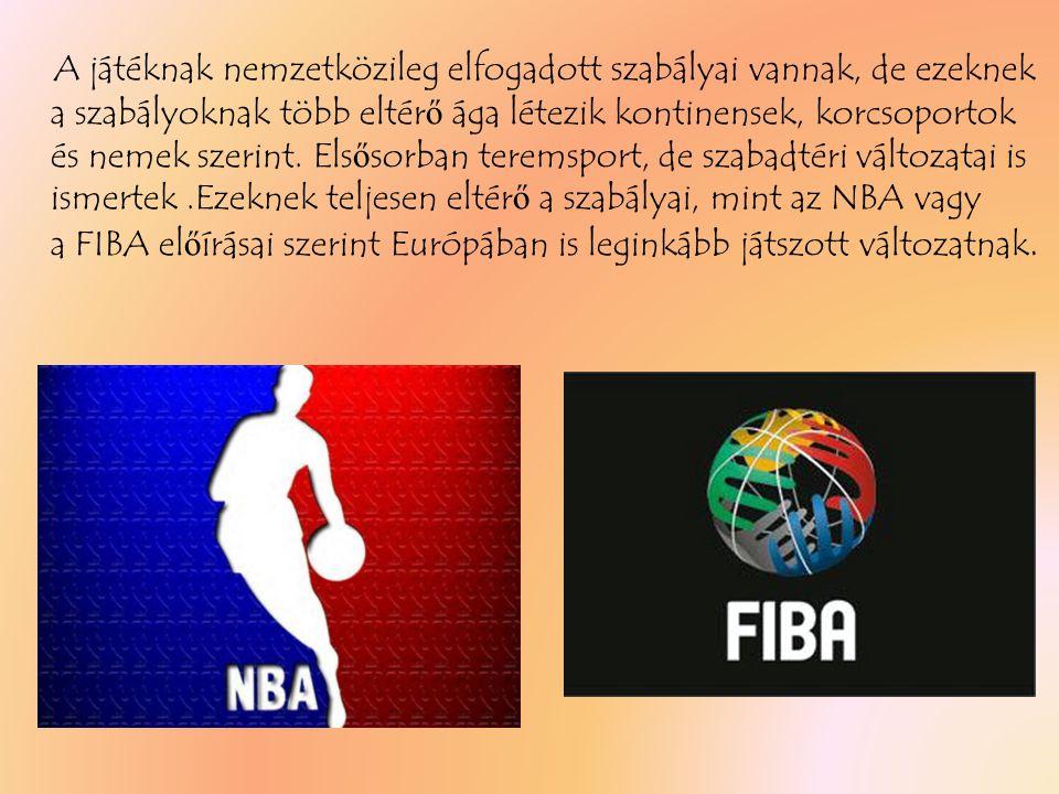 A játéknak nemzetközileg elfogadott szabályai vannak, de ezeknek a szabályoknak több eltér ő ága létezik kontinensek, korcsoportok és nemek szerint.