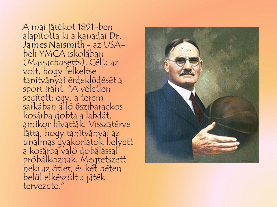 A mai játékot 1891-ben alapította ki a kanadai Dr.