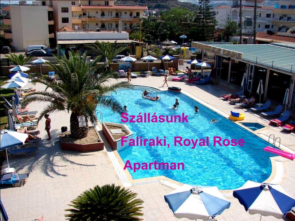 Szállásunk Faliraki, Royal Rose Apartman