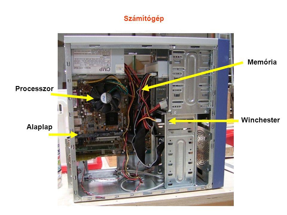 Számítógép Alaplap Processzor Memória Winchester